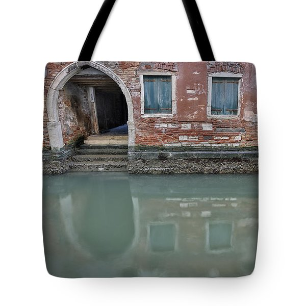Tote Bag featuring the photograph Blue Windows by Sharon Jones