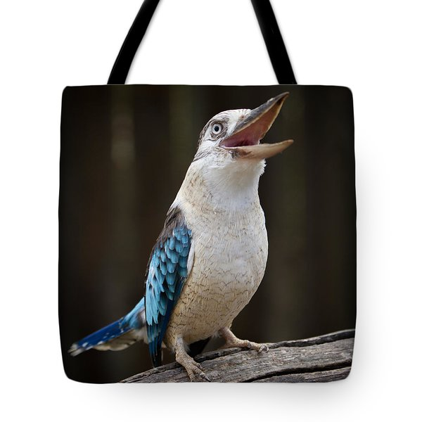 Blue Winged Kookaburra Tote Bag