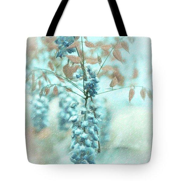 Blue Wisteria Tote Bag by Angela A Stanton