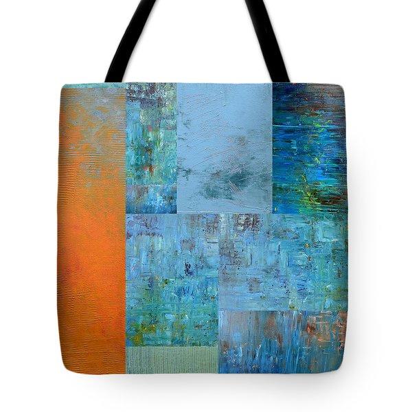 Blue With Orange 2.0 Tote Bag