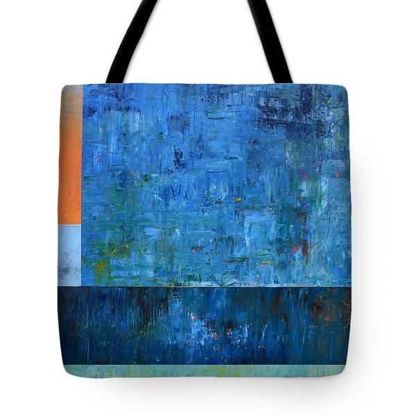 Blue With Orange Tote Bag