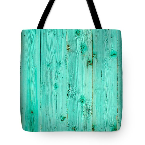 Blue Wooden Planks Tote Bag by John Williams