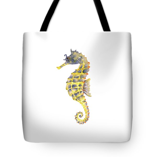 Blue Yellow Seahorse - Square Tote Bag