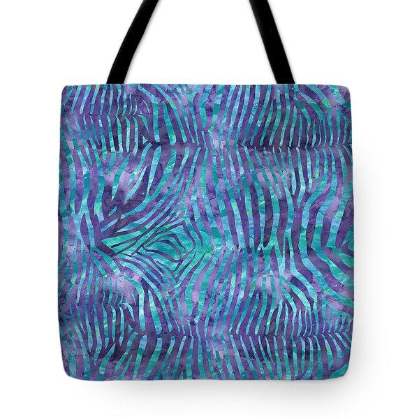 Blue Zebra Print Tote Bag