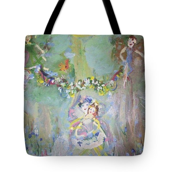 Bluebell Fairies Tote Bag by Judith Desrosiers