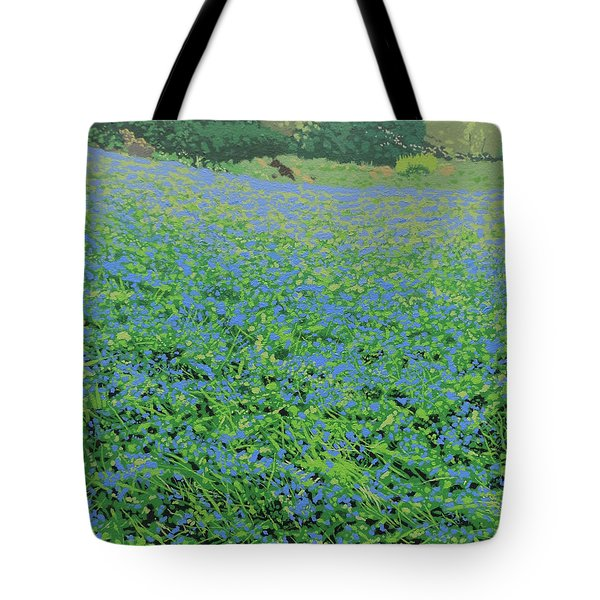 Bluebell Hill Tote Bag by Malcolm Warrilow