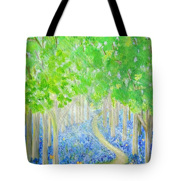 Bluebell Wood With Butterflies Tote Bag