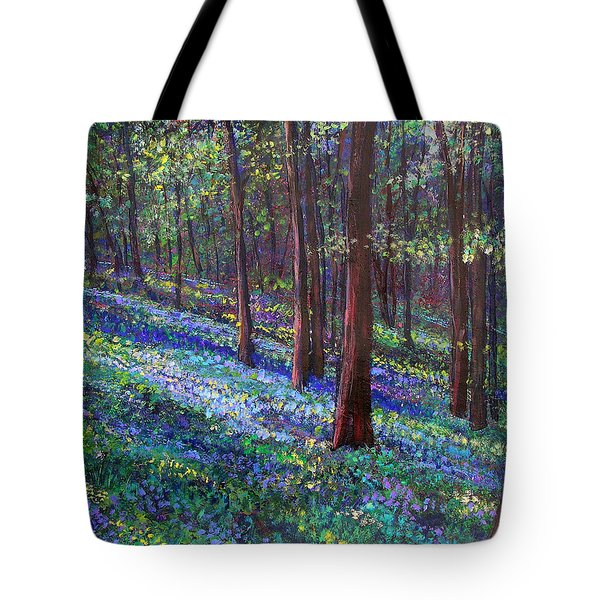 Bluebell Woods Tote Bag by Li Newton
