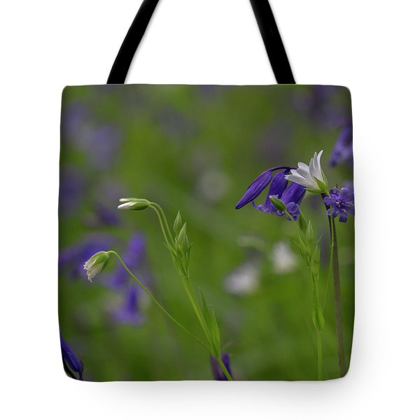 Bluebells And Stitchwort  Tote Bag