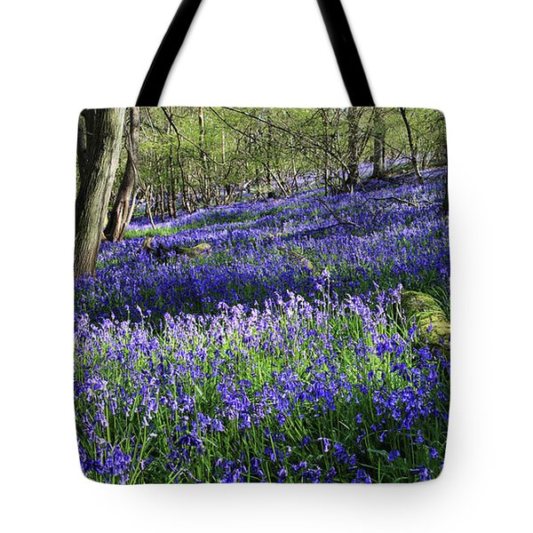 Tote Bag featuring the digital art Bluebells by Julian Perry