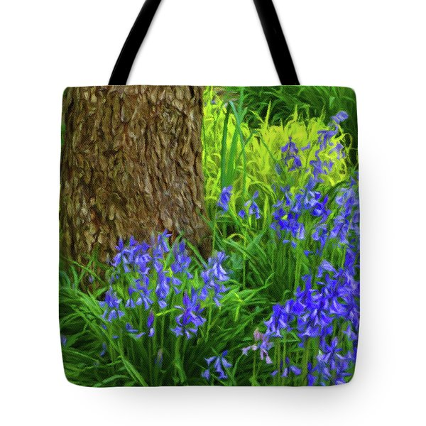 Tote Bag featuring the photograph Bluebells Of Springtime  by Connie Handscomb