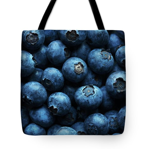 Blueberries Background Close-up Tote Bag