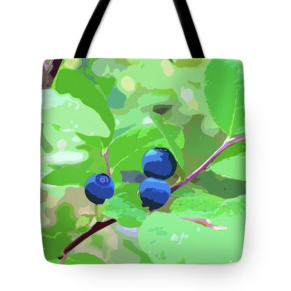 Blueberries Halftone Tote Bag