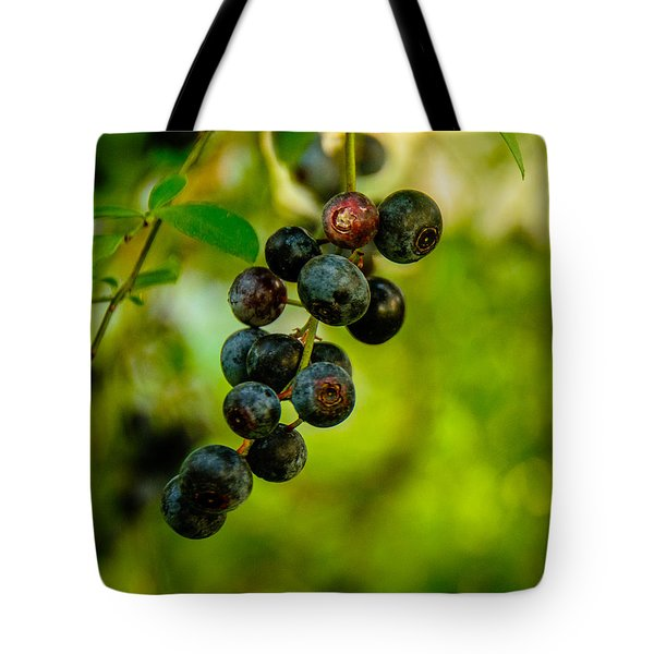 Blueberries Tote Bag by John Harding