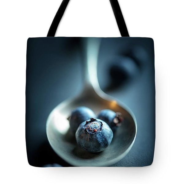 Blueberries Macro Still Life Tote Bag