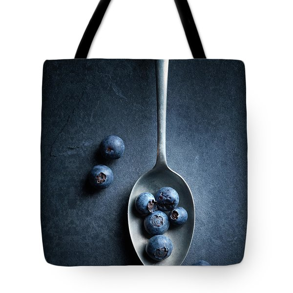 Blueberries On Spoon Still Life Tote Bag