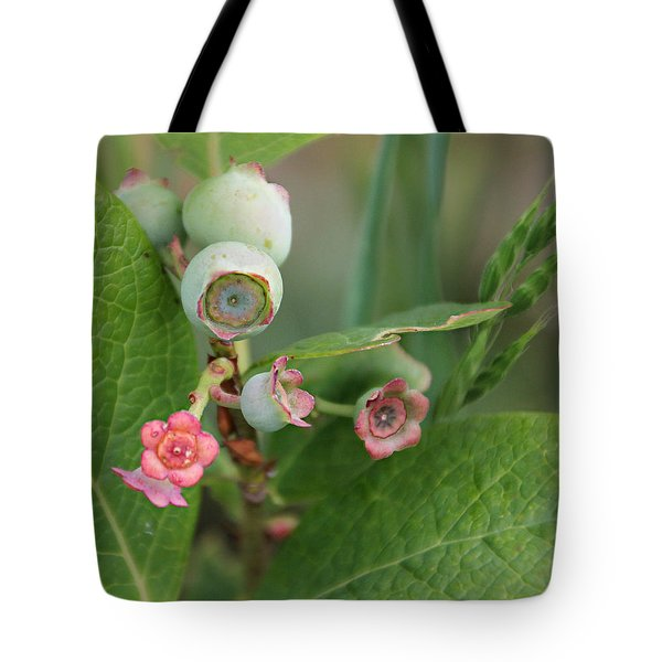 Blueberry Blossoms Tote Bag