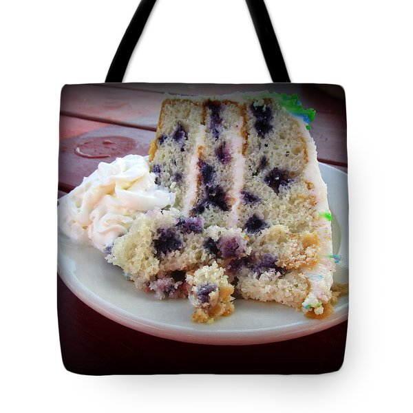 Blueberry Cake With Lemon Icing Tote Bag