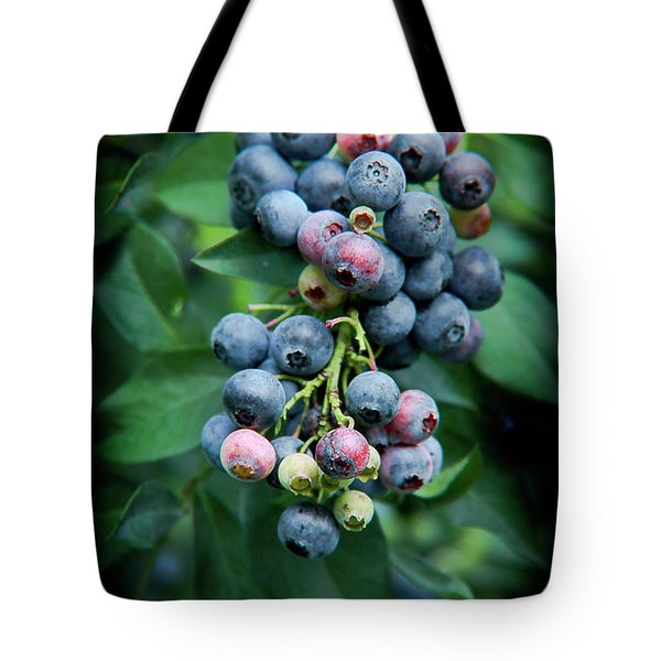 Blueberry Cluster Tote Bag
