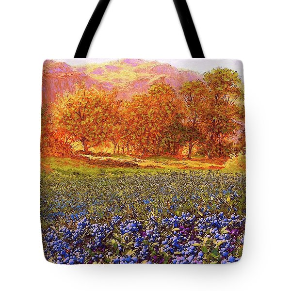 Blueberry Fields Season Of Blueberries Tote Bag