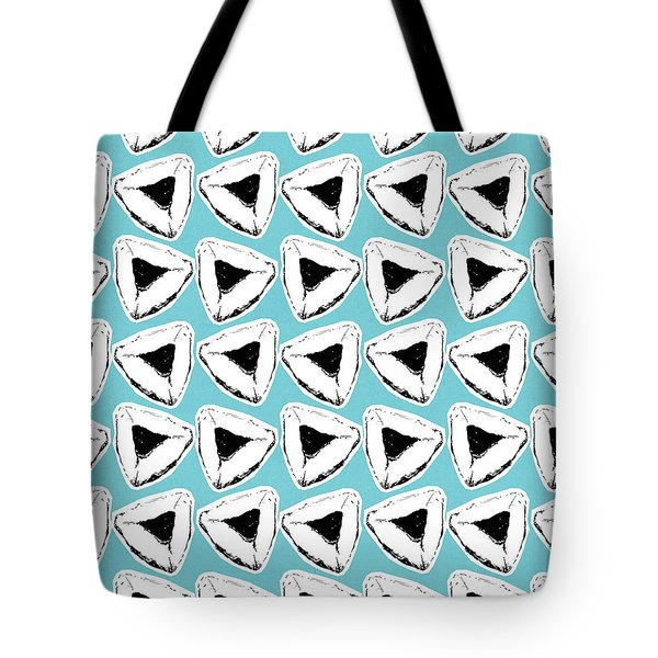 Tote Bag featuring the mixed media Blueberry Hamentashen- Art By Linda Woods by Linda Woods