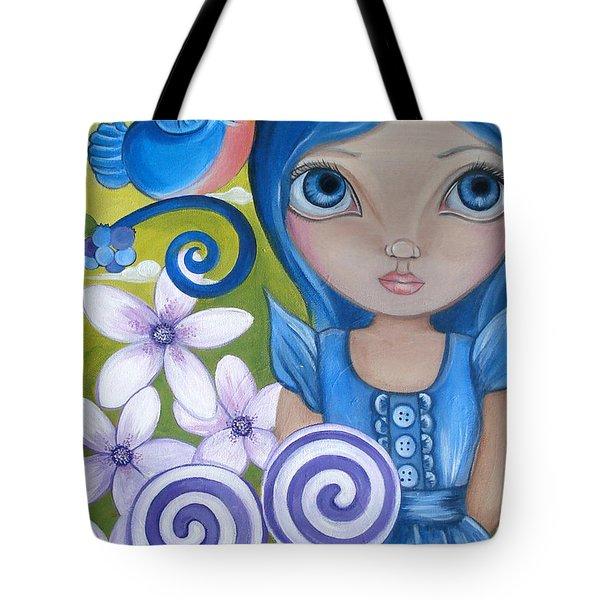Blueberry Tote Bag by Jaz Higgins