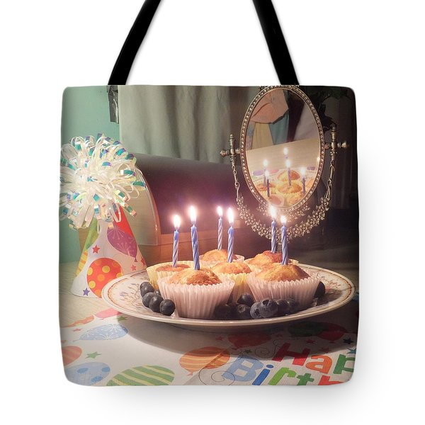 Blueberry Muffin Birthday Tote Bag