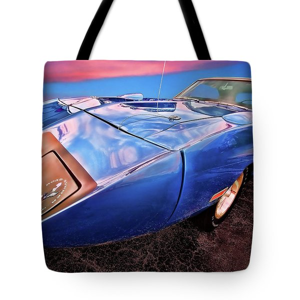 Bluebird - 1970 Plymouth Road Runner Superbird Tote Bag by Gordon Dean II