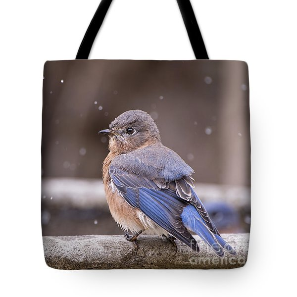 Bluebird Bubble Bath Tote Bag