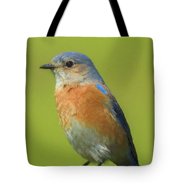 Bluebird Digital Art Tote Bag