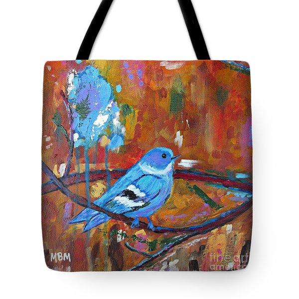 Bluebird In Autumn Tote Bag