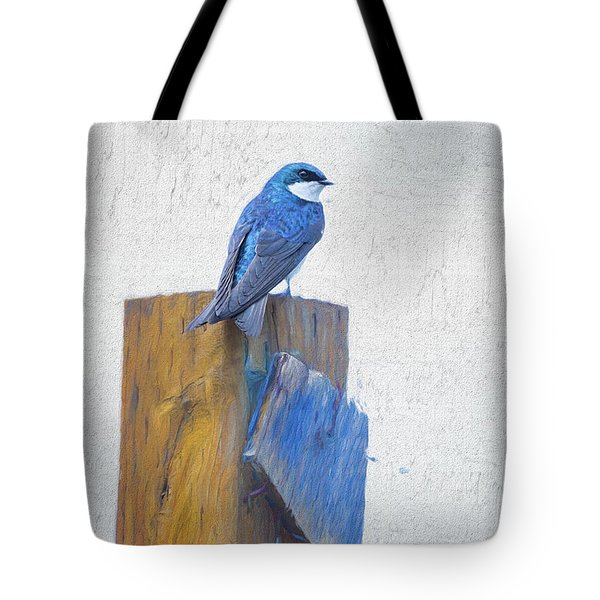 Tote Bag featuring the photograph Bluebird by James BO Insogna