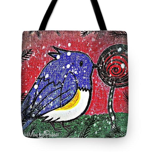 Bluebird Of The Season Tote Bag