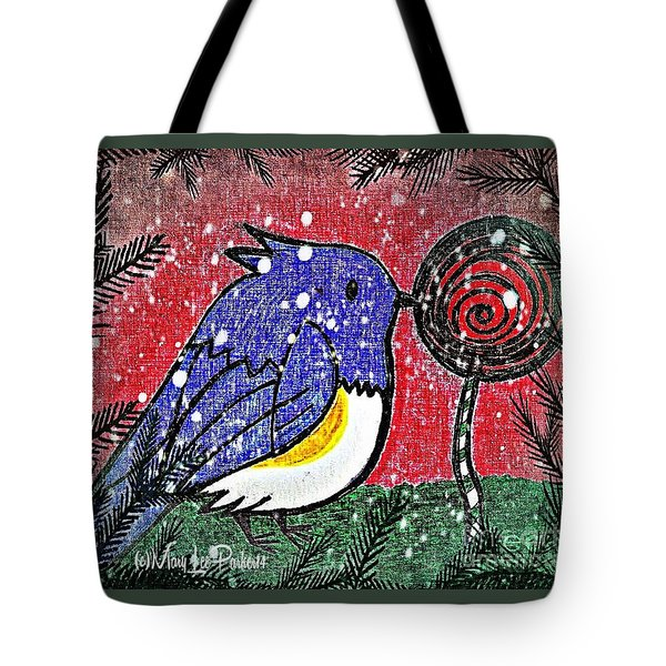 Bluebird Of The Season Tote Bag