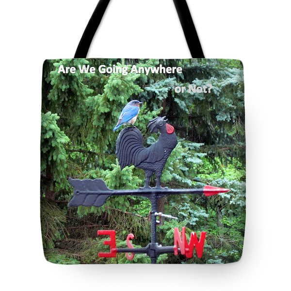 Bluebird On Weather Cock Tote Bag by Betty Pieper