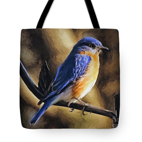 Bluebird Portrait Tote Bag