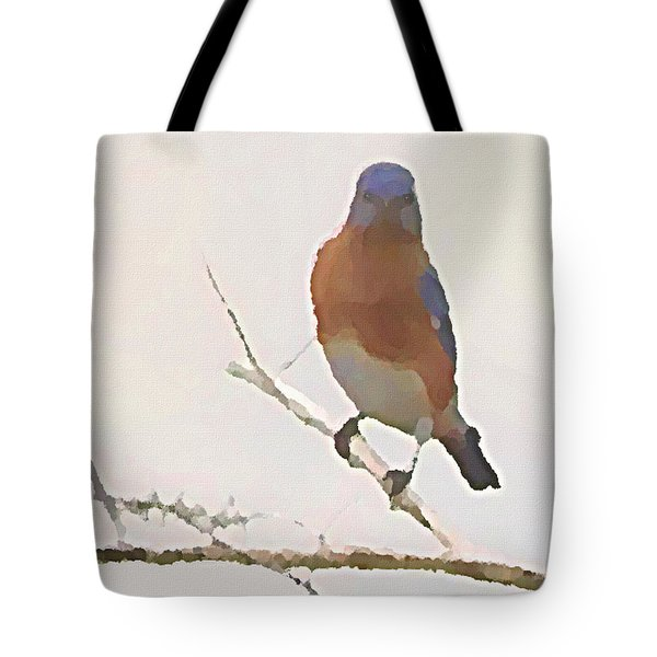 Bluebird Stare  Tote Bag
