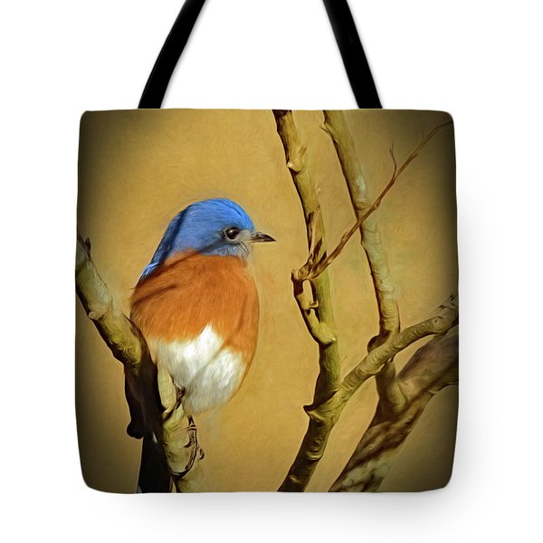 Bluebird Waiting For Spring Tote Bag
