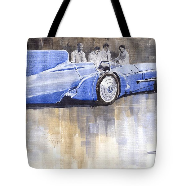 Bluebird World Land Speed Record Car 1931 Tote Bag by Yuriy  Shevchuk