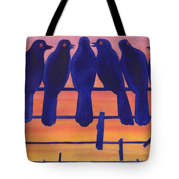 Bluebirds Tote Bag