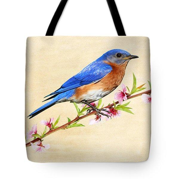Bluebird's Spring Tote Bag