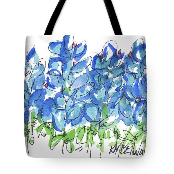 Bluebonnet Dance Watercolor By Kmcelwaine Tote Bag