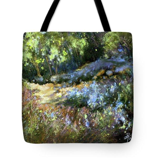 Bluebonnet Dazzle Tote Bag by Rae Andrews