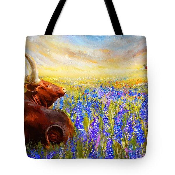Bluebonnet Dream - Bluebonnet Paintings Tote Bag