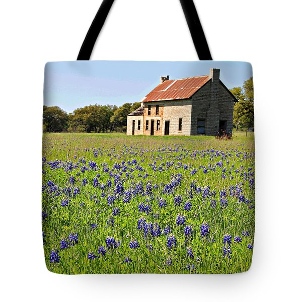 Bluebonnet Field Tote Bag