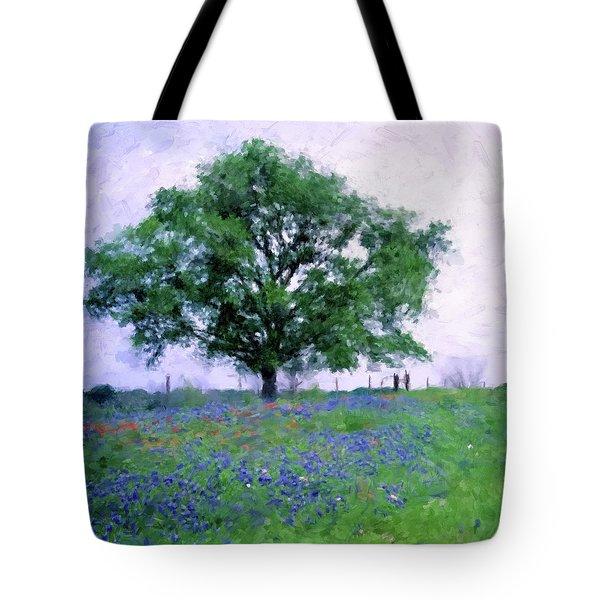 Bluebonnet Tree Tote Bag