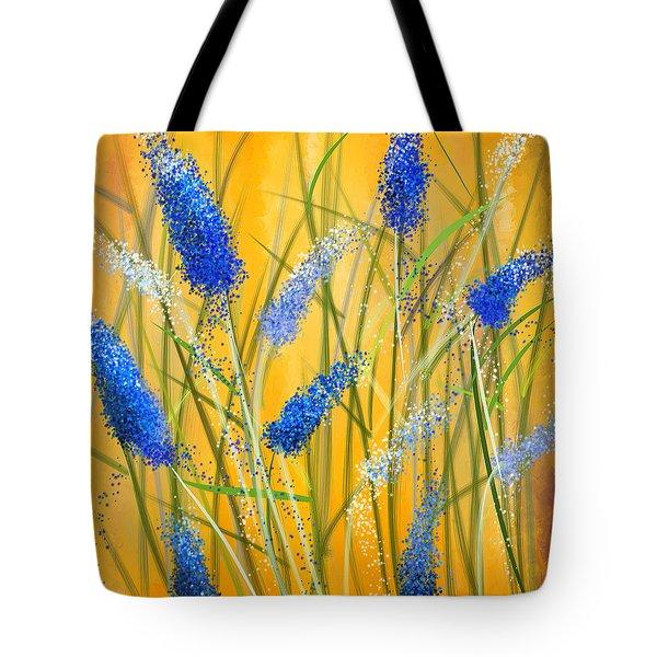 Bluebonnets Glow Tote Bag