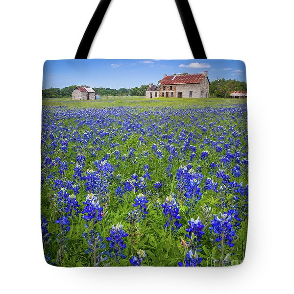 Bluebonnets In Marble Falls Tote Bag