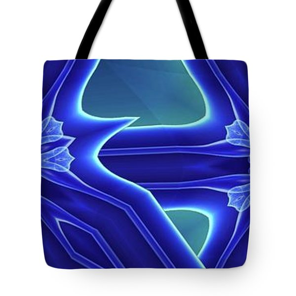 Blued Tote Bag by Ron Bissett