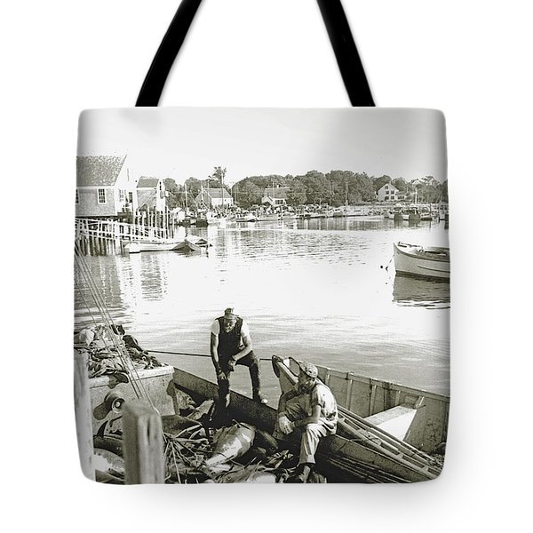 Bluefin Tuna At Barnstable Harbor Tote Bag by Charles Harden